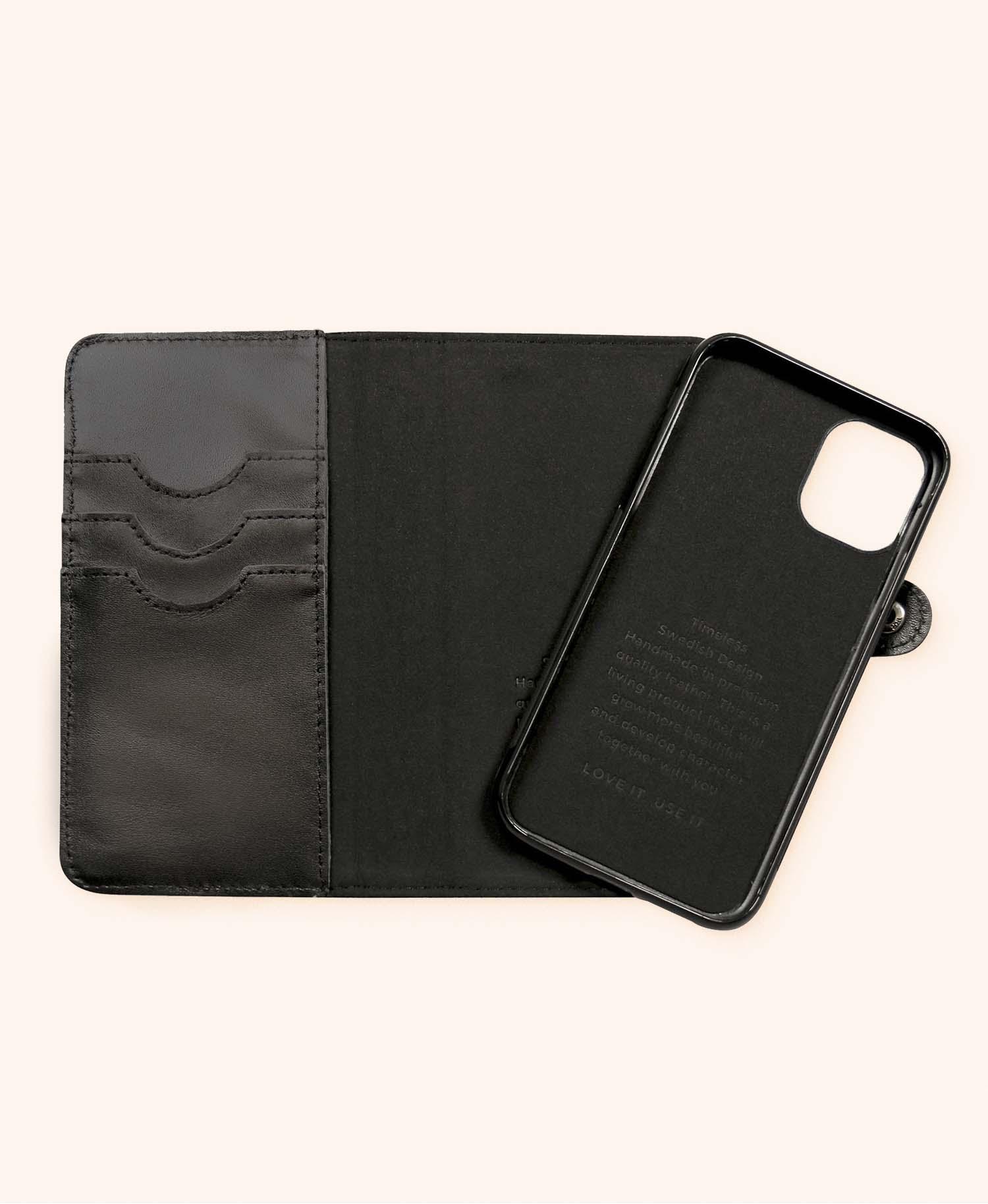 Andrew black wallet iphone 11 - open