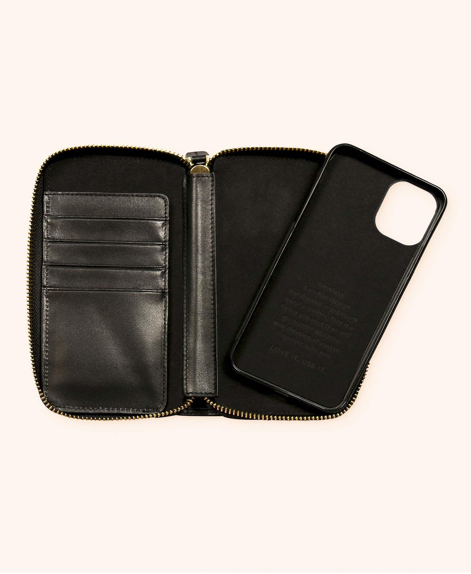 Greg black wallet iphone 11 - inside