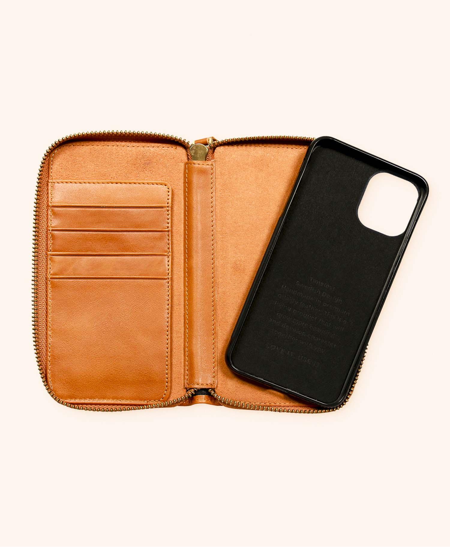 Greg cognac wallet iphone 11 - inside