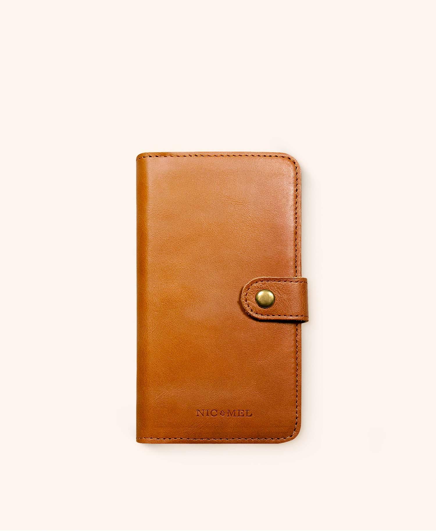 Andrew cognac wallet iphone 12 Mini