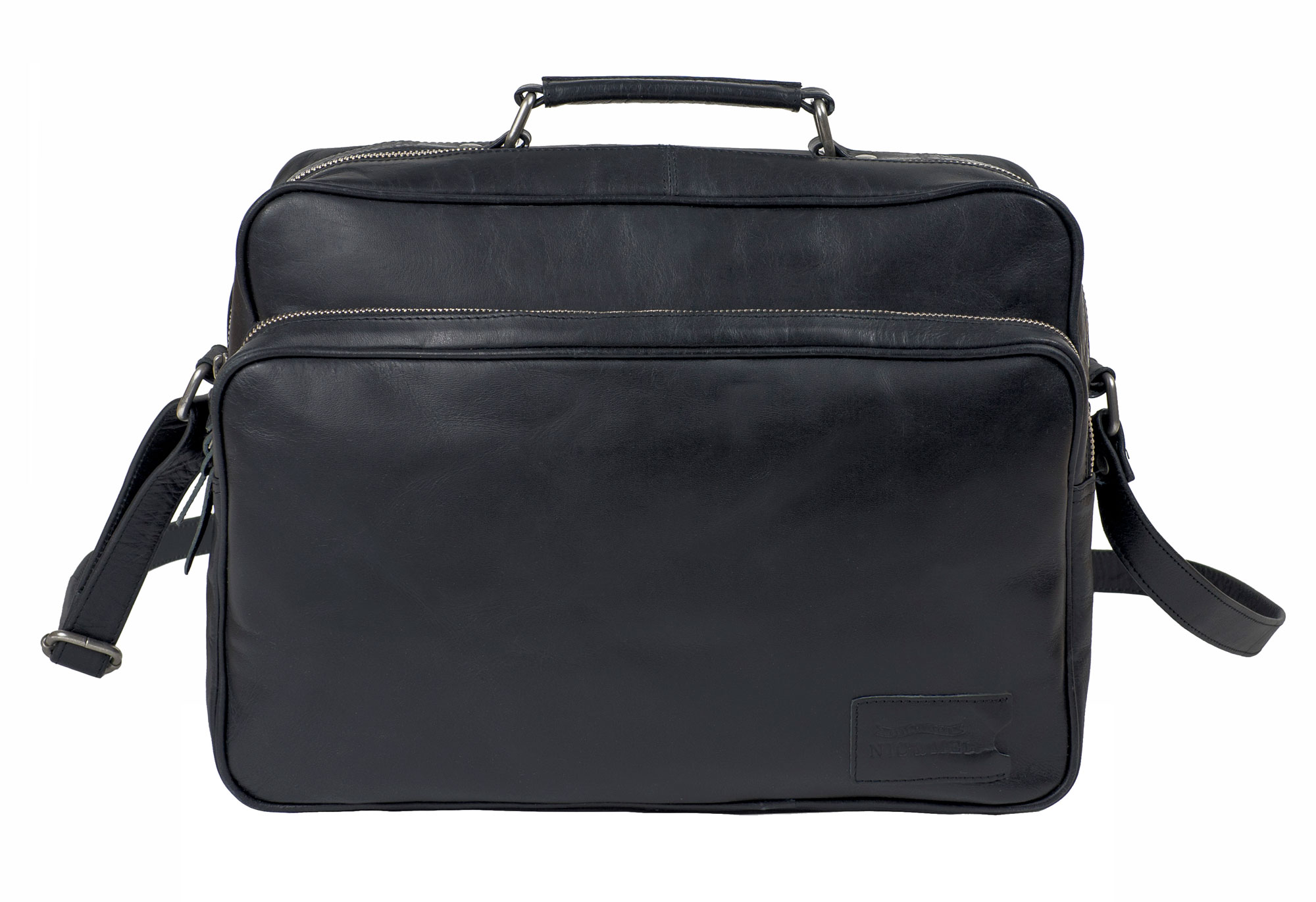 KIRK COMPUTERBAG 12-13″ <br>Black Leather