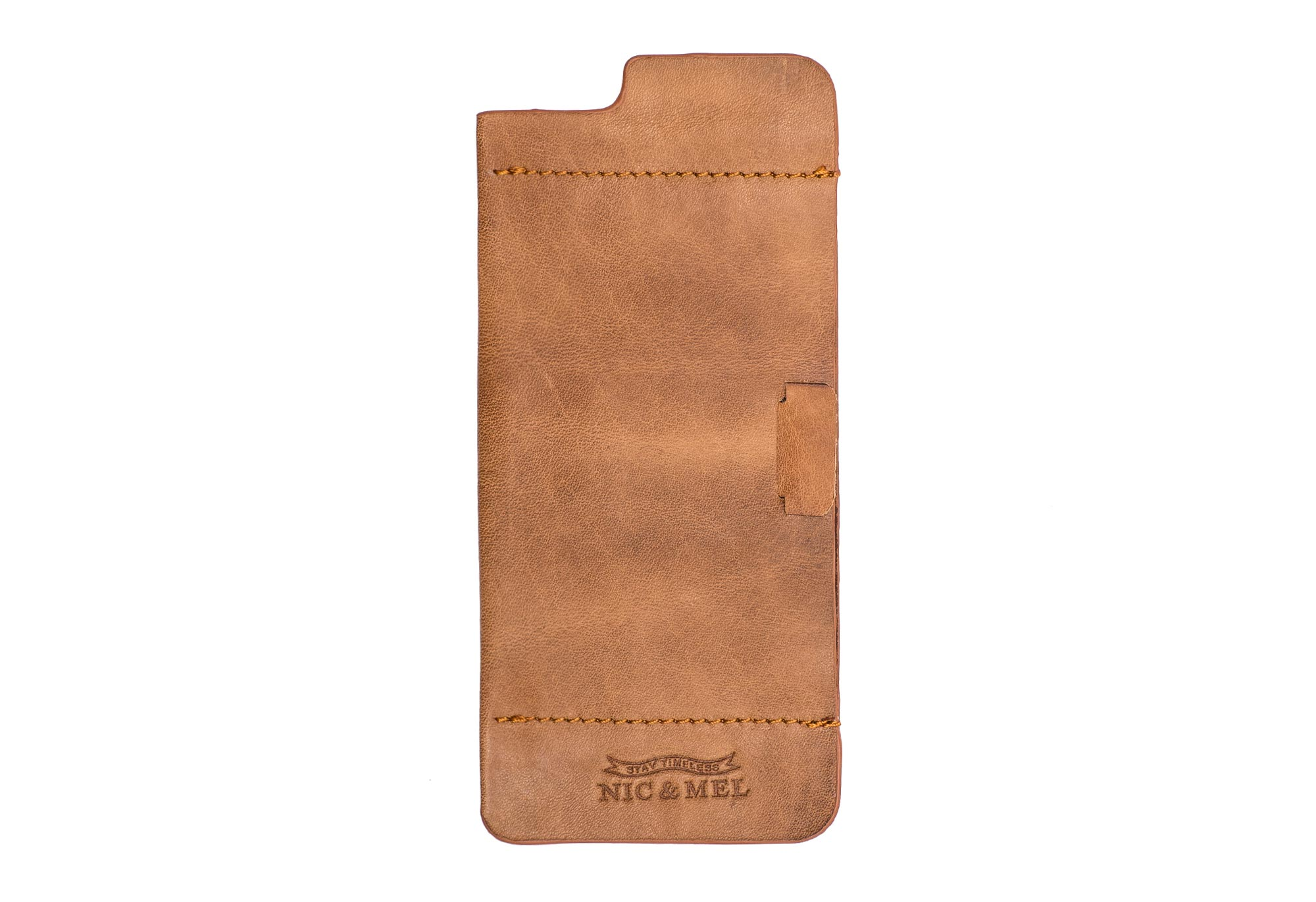 FLOYD SOFT STICK-ON CASE<br> with Card Holder <br> Cognac Leather <br> iPhone 6/6S