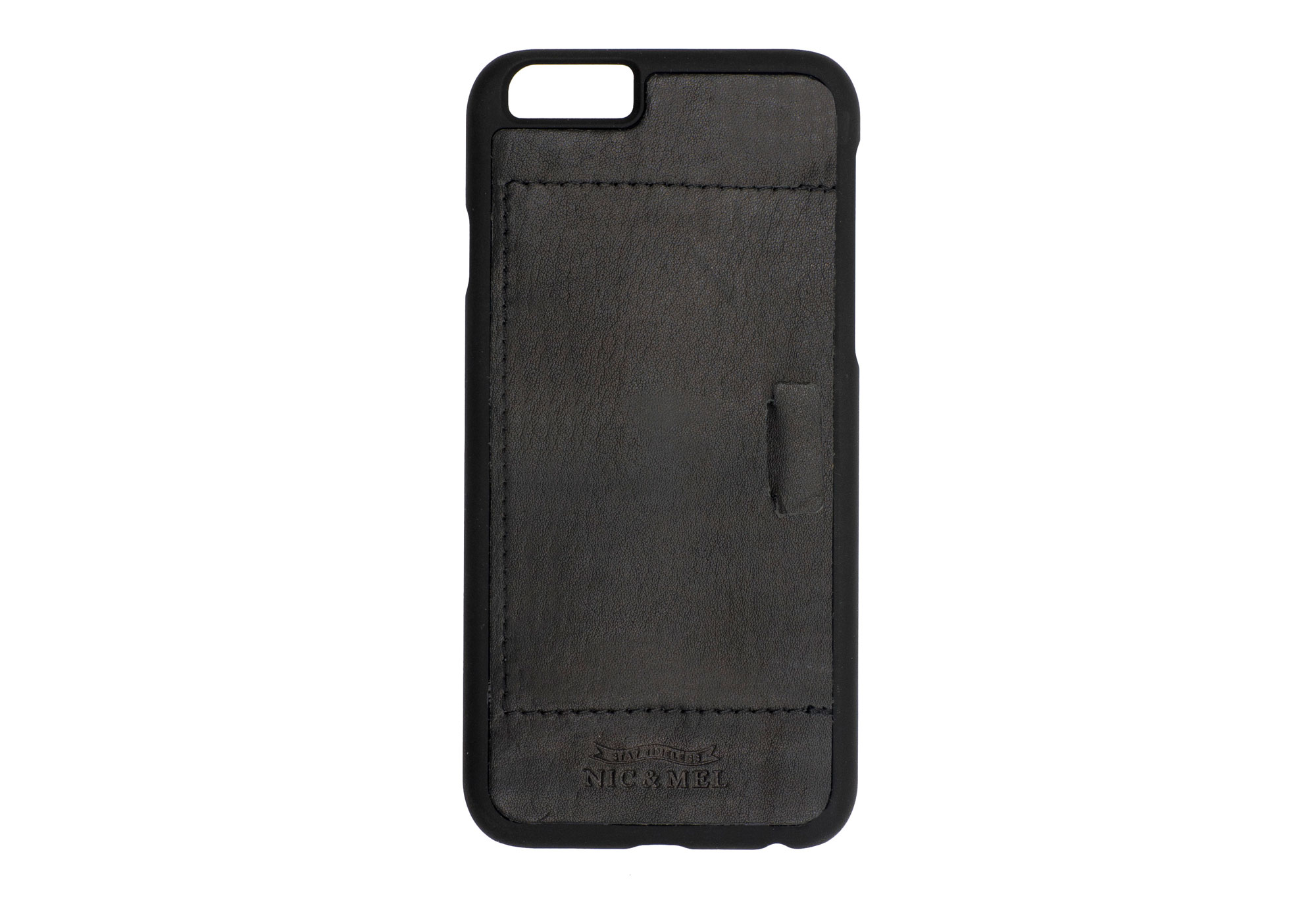 FLOYD HARDCASE <br>with Card Holder <br> Black Leather <br> iPhone 6/6S