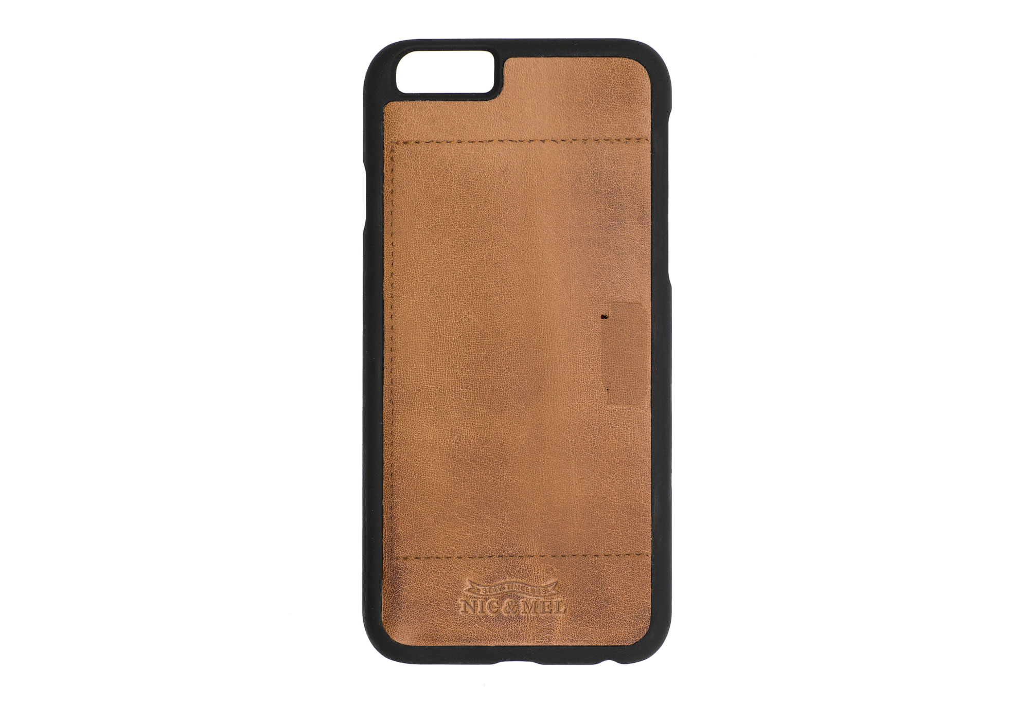 FLOYD HARDCASE <br>with Card Holder <br> Cognac Leather <br> iPhone 6/7/8