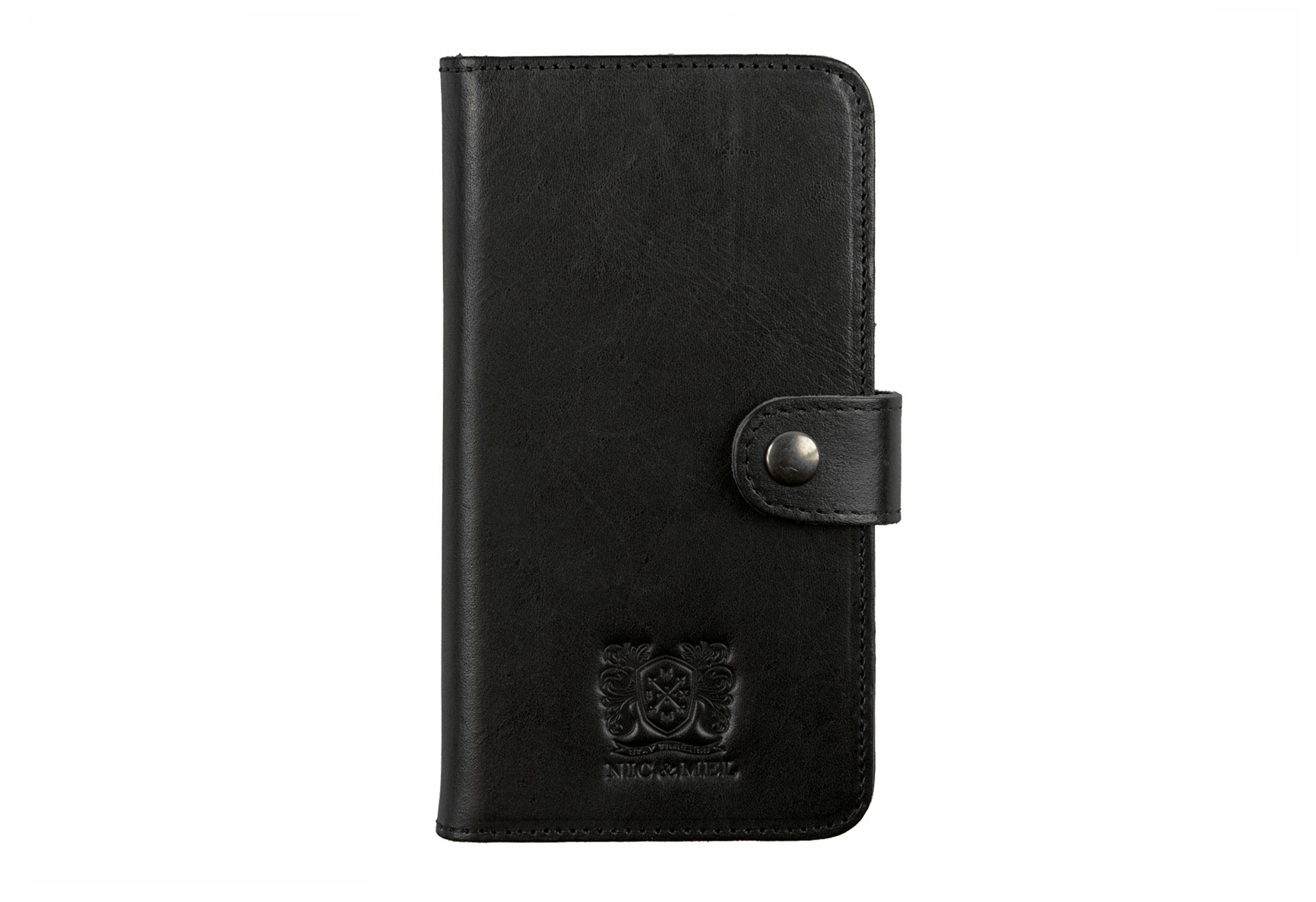 ANDREW BOOKCASE <br>Black Leather <br>Samsung S6/S6 Edge