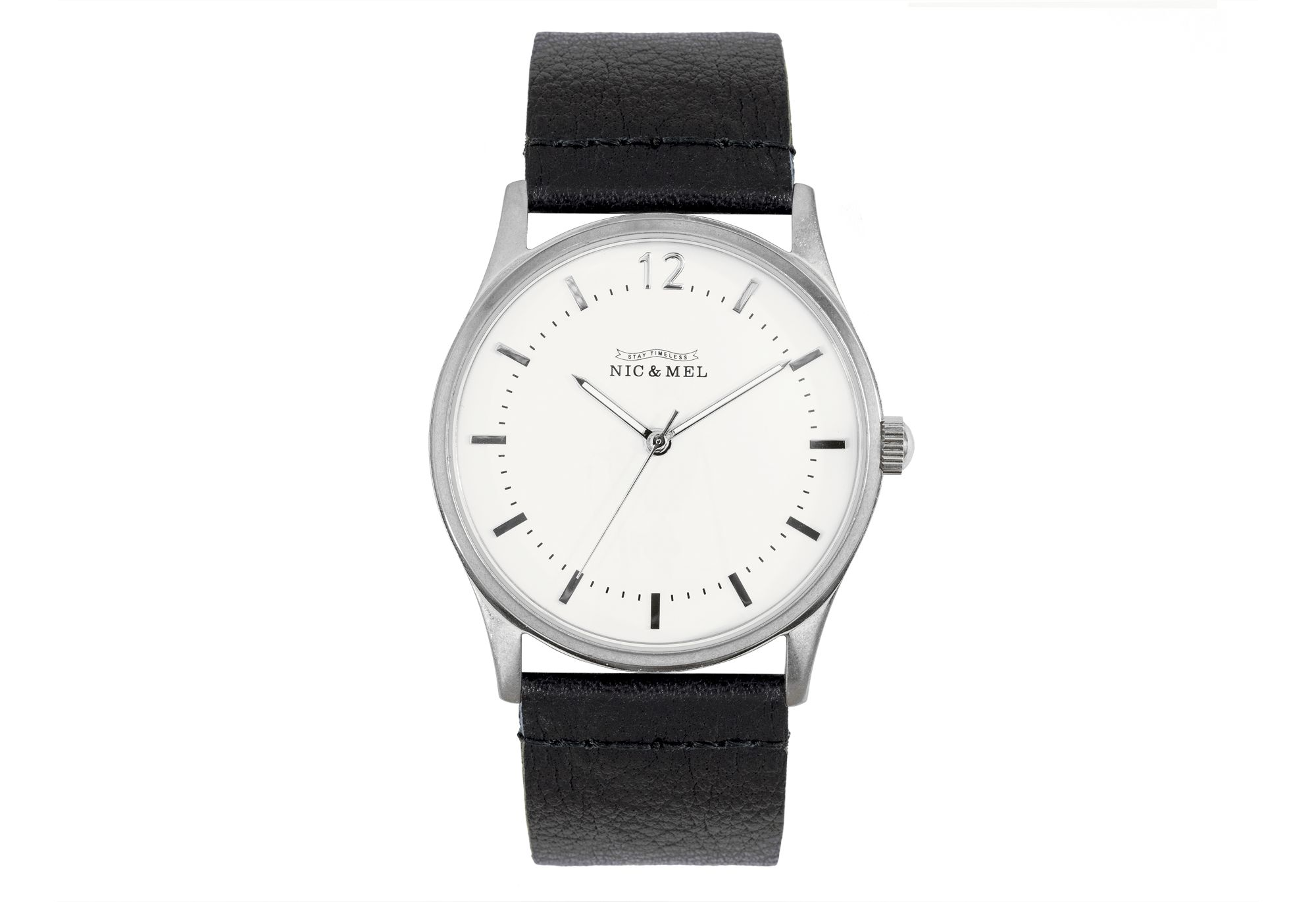 KENNEDY WRISTWATCH <br> Black Leather