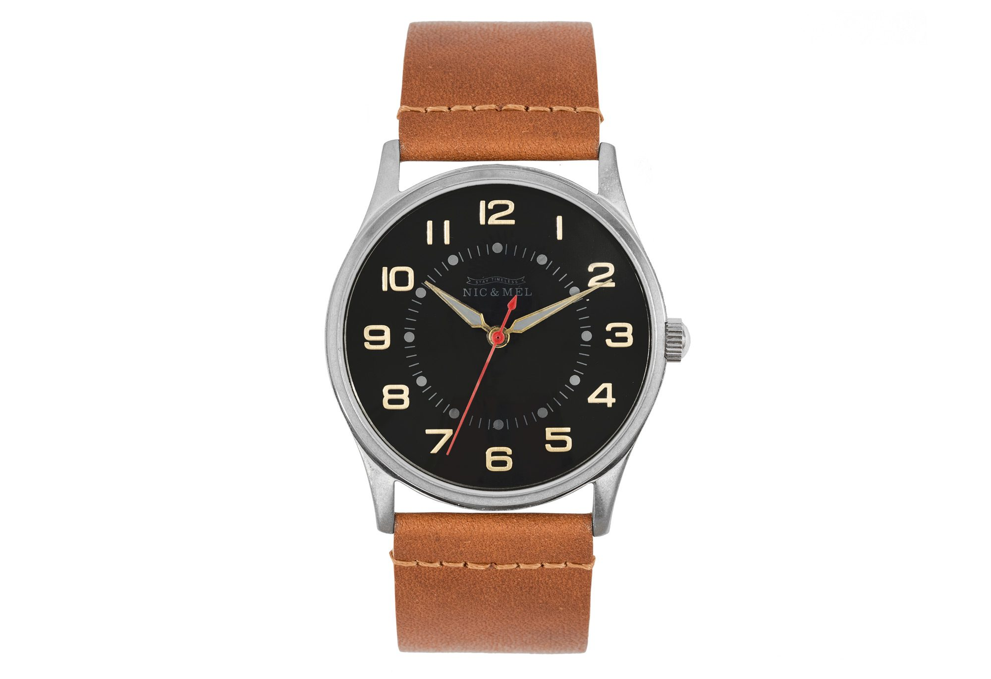 VINCE WRISTWATCH <br> Cognac Leather