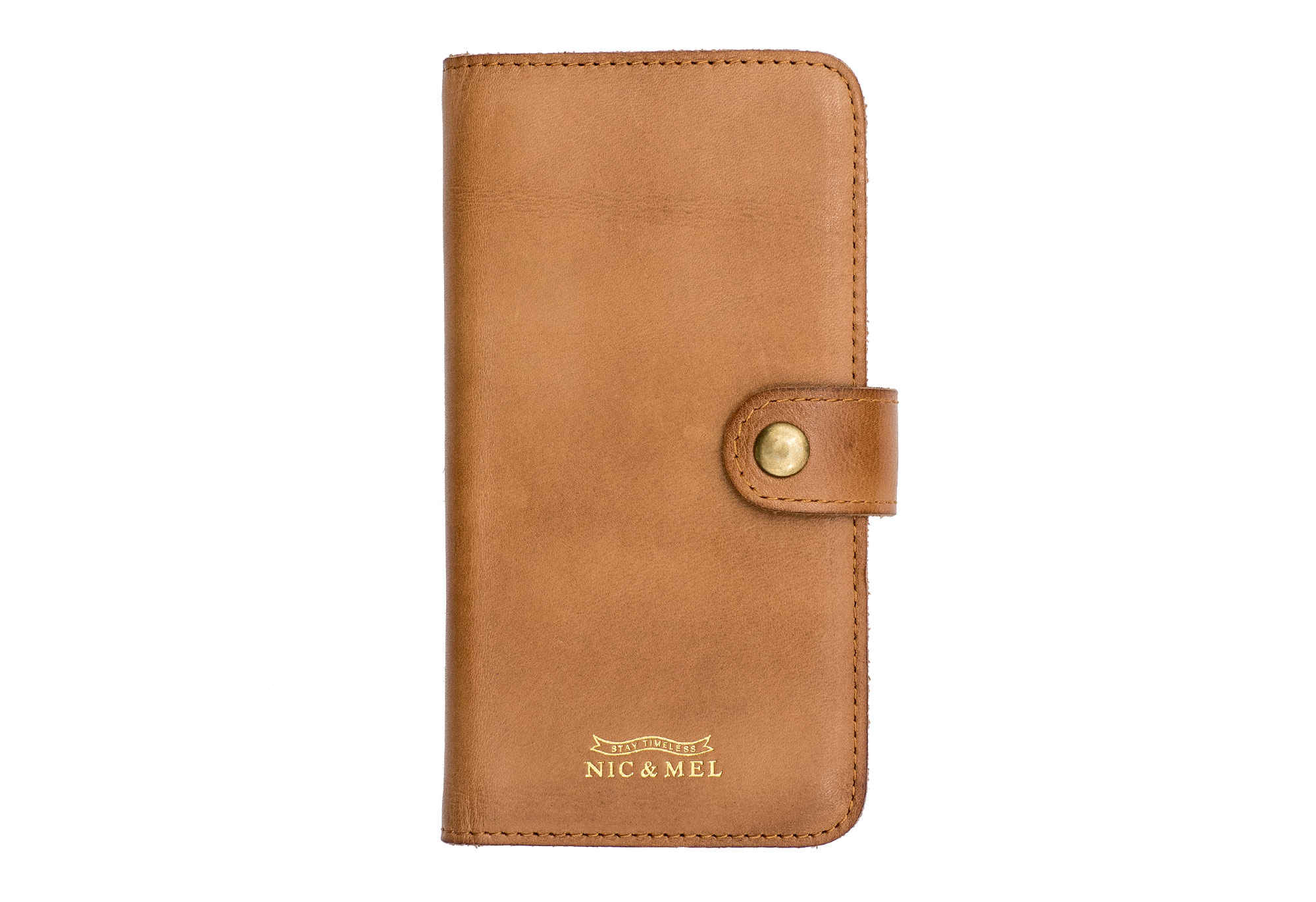ANDY BOOKCASE <br>Cognac Leather <br>iPhone 6/7/8