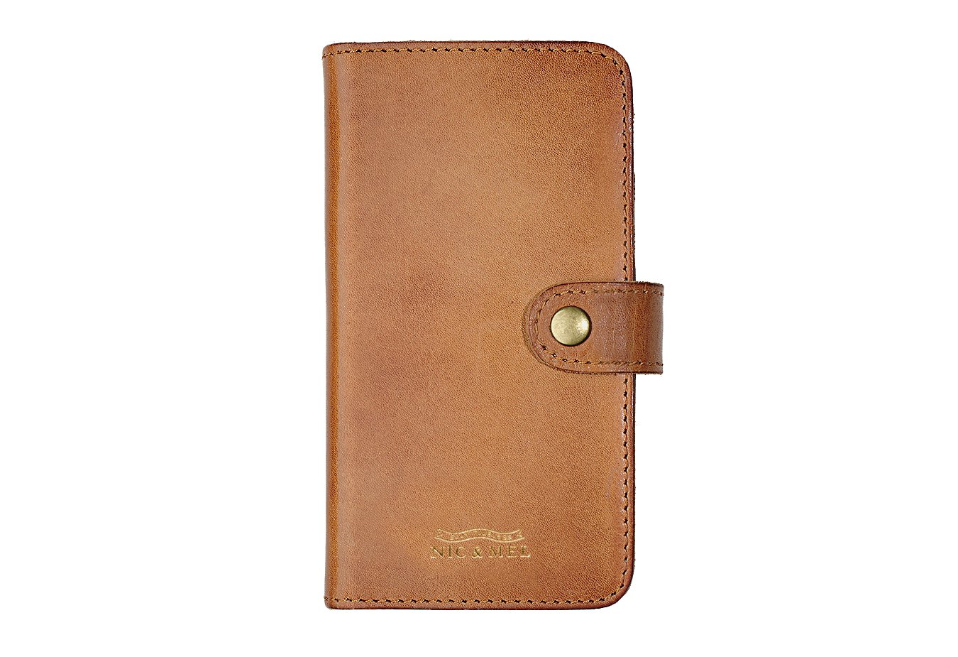 ANDREW BOOKCASE <br>Cognac Leather <br>iPhone 6/6S/7