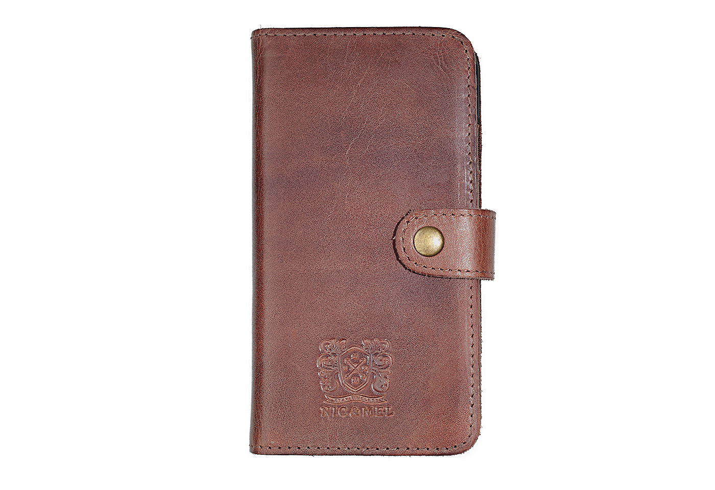 ANDREW BOOKCASE <br>Dark Cognac Leather <br>iPhone 6/6S/7
