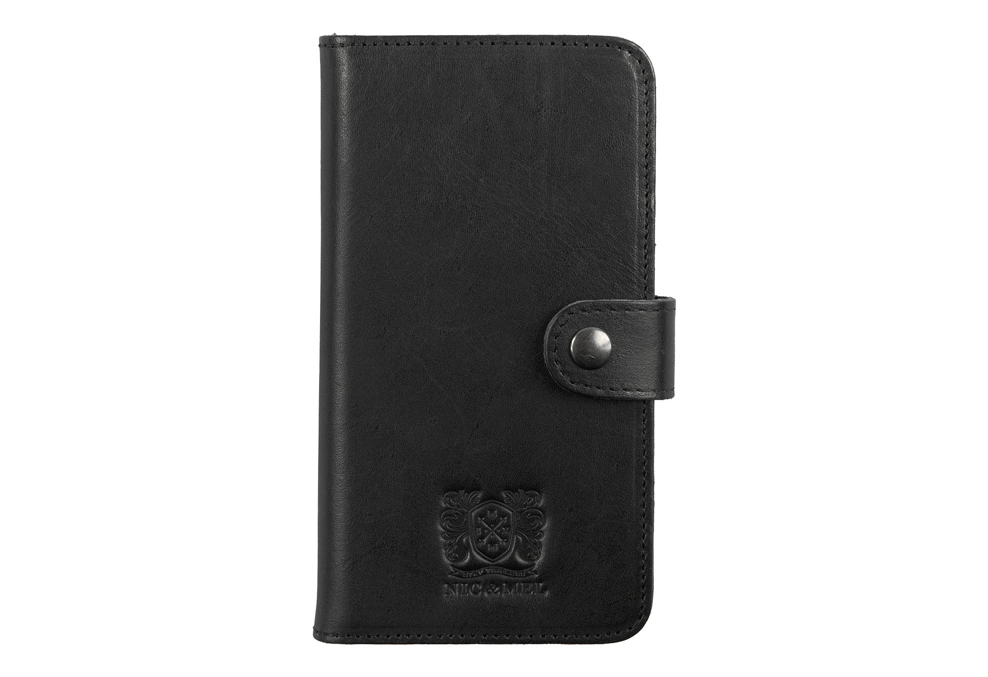 ANDREW BOOKCASE <br> Black Leather <br> iPhone 5