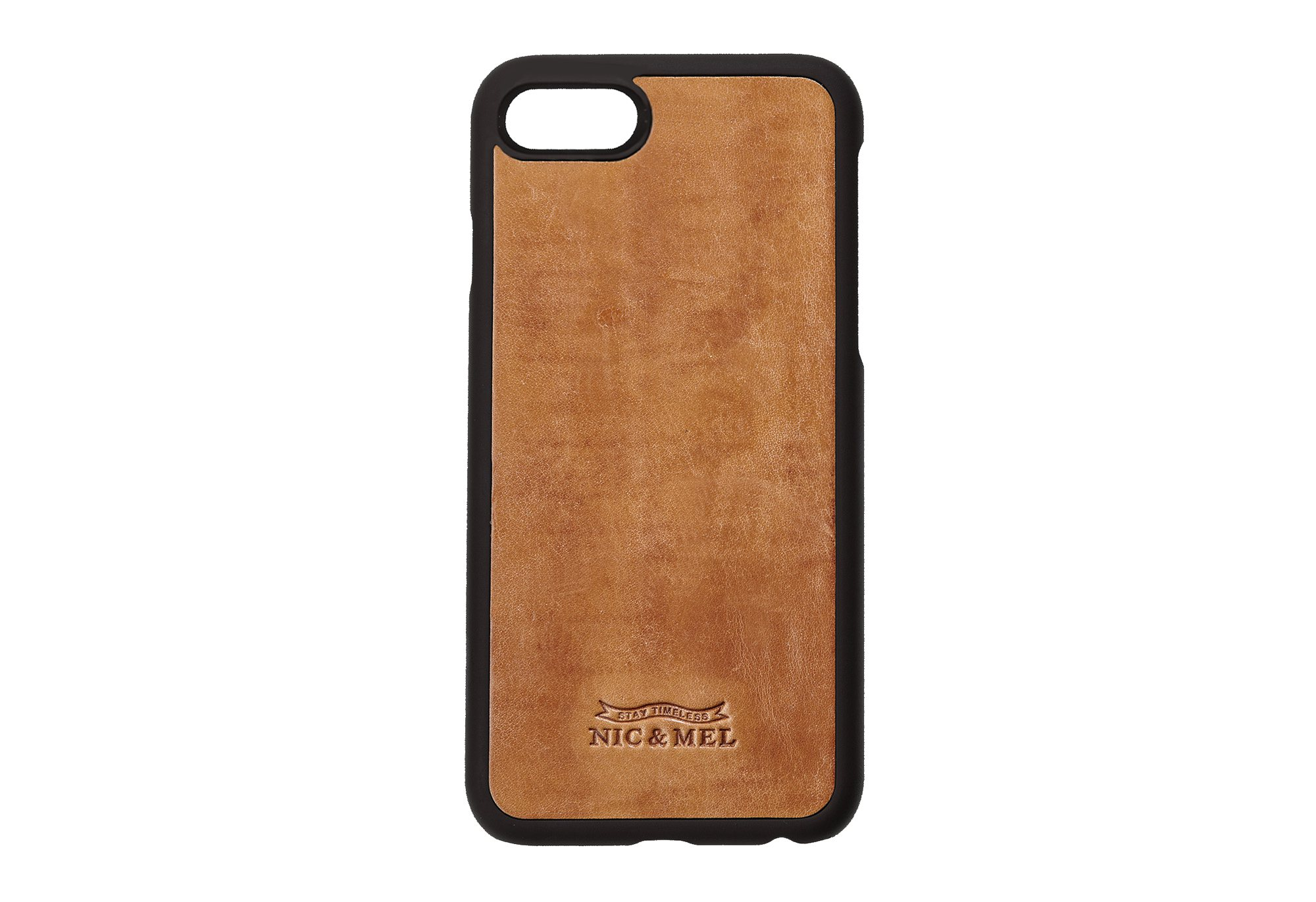 CHARLES HARDCASE <br> Cognac <br>iPhone 7/8