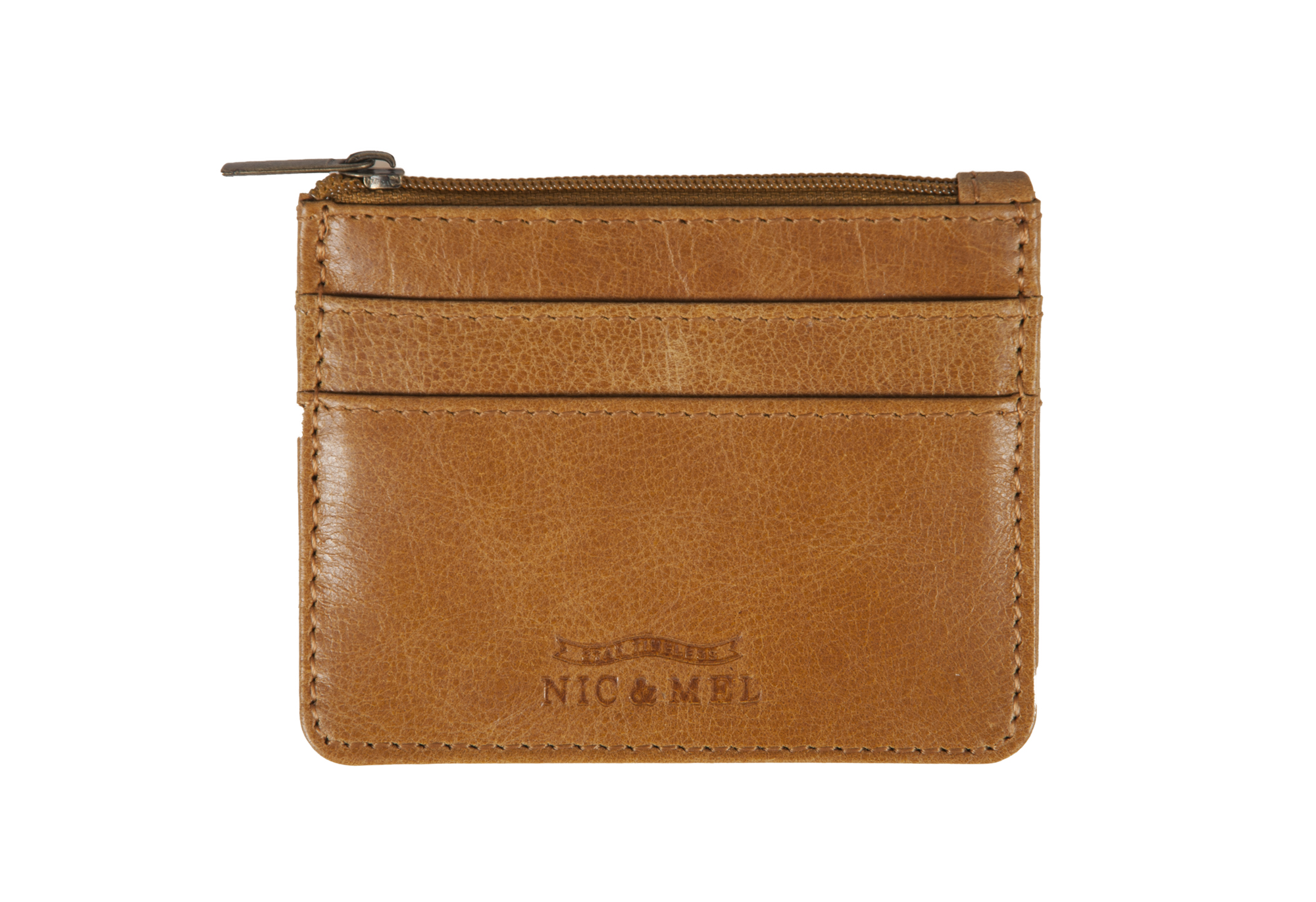 CHARLIE CARD WALLET <br>Cognac Leather