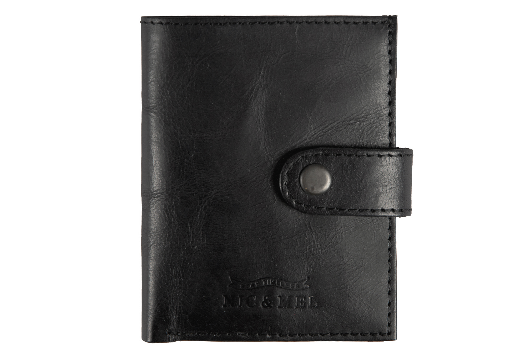 JASON WALLET <br> Black Leather