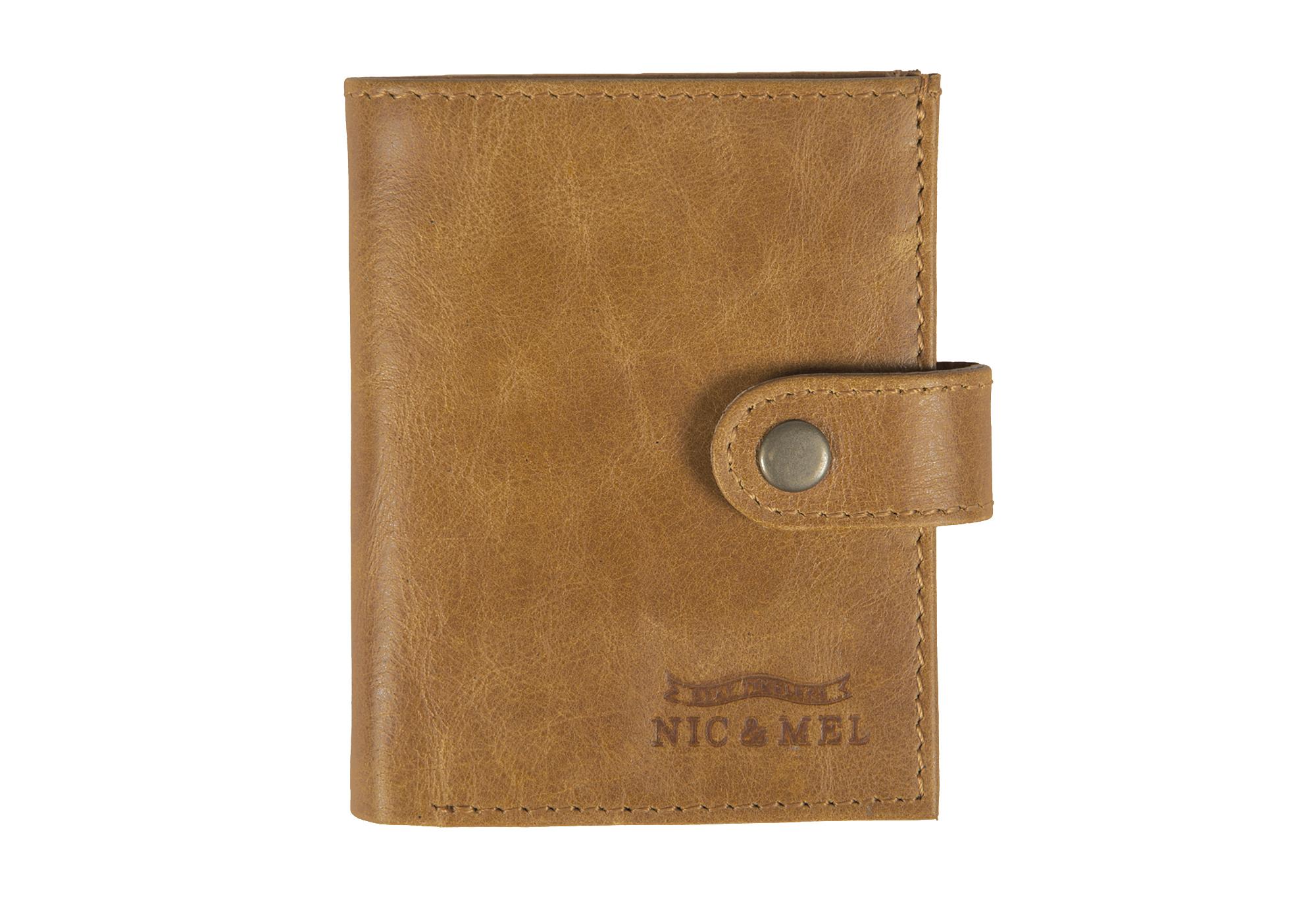 JASON WALLET <br> Cognac Leather