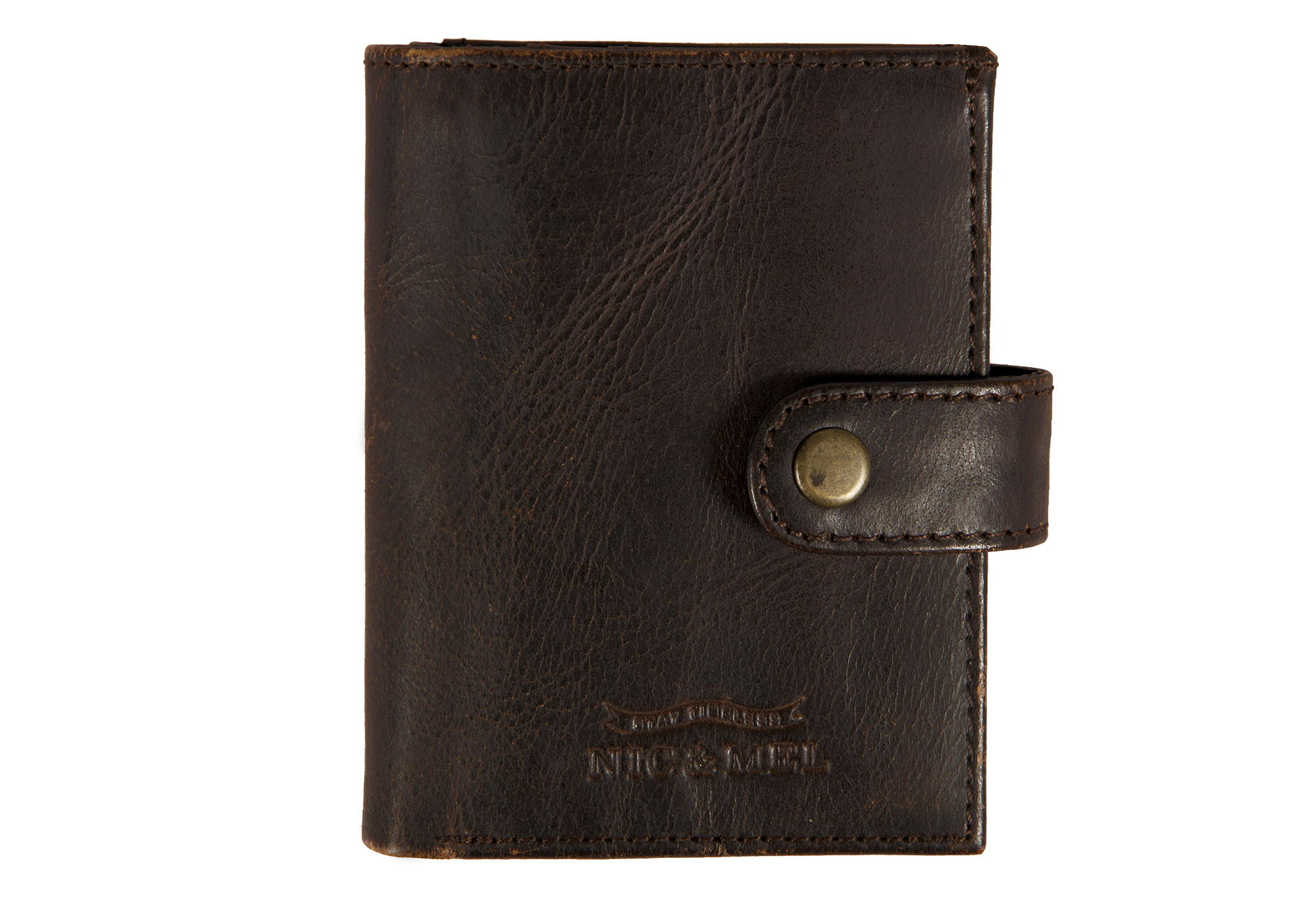 JASON WALLET <br> Dark Brown Leather