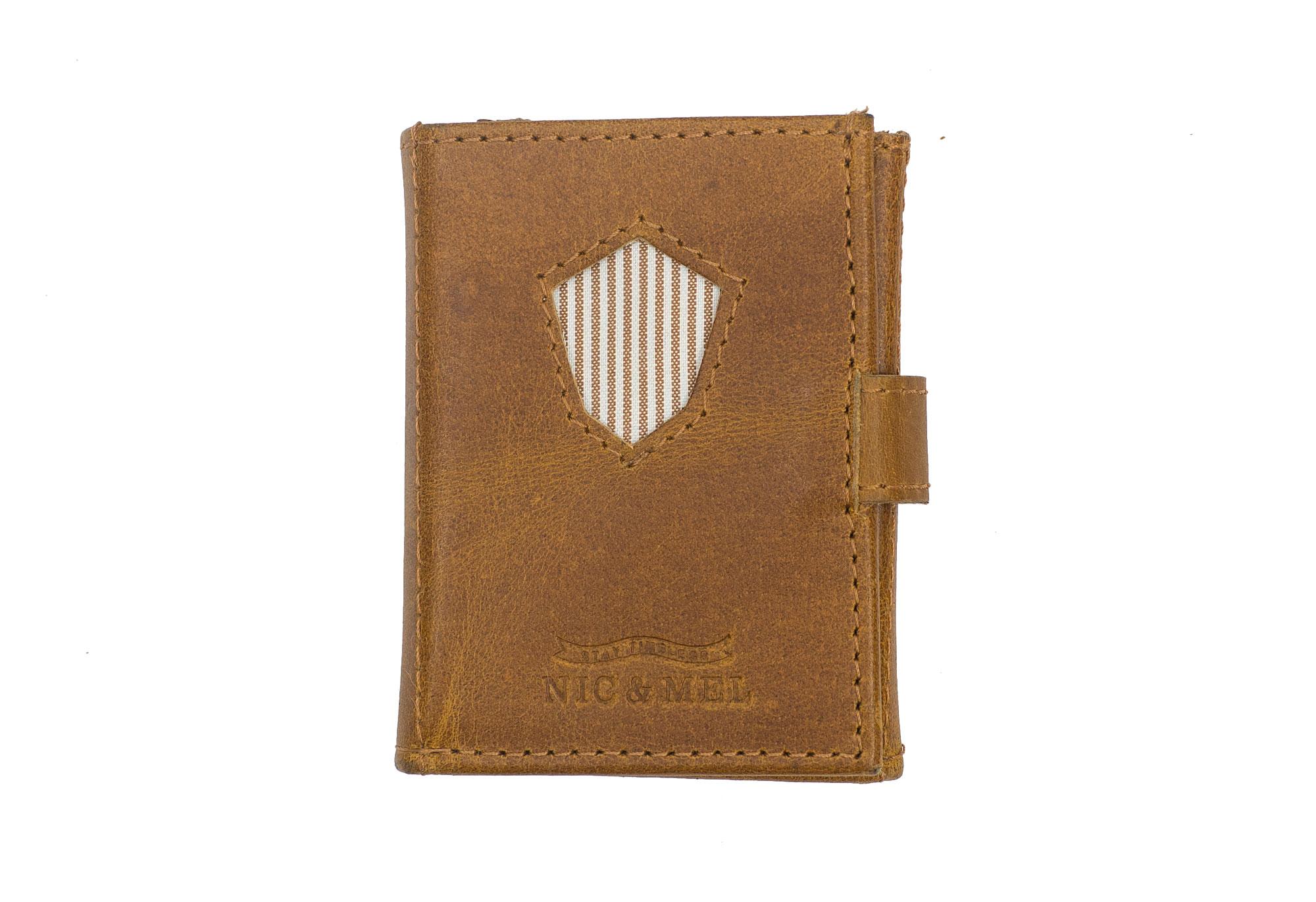 JOHN WALLET <br> Cognac Leather