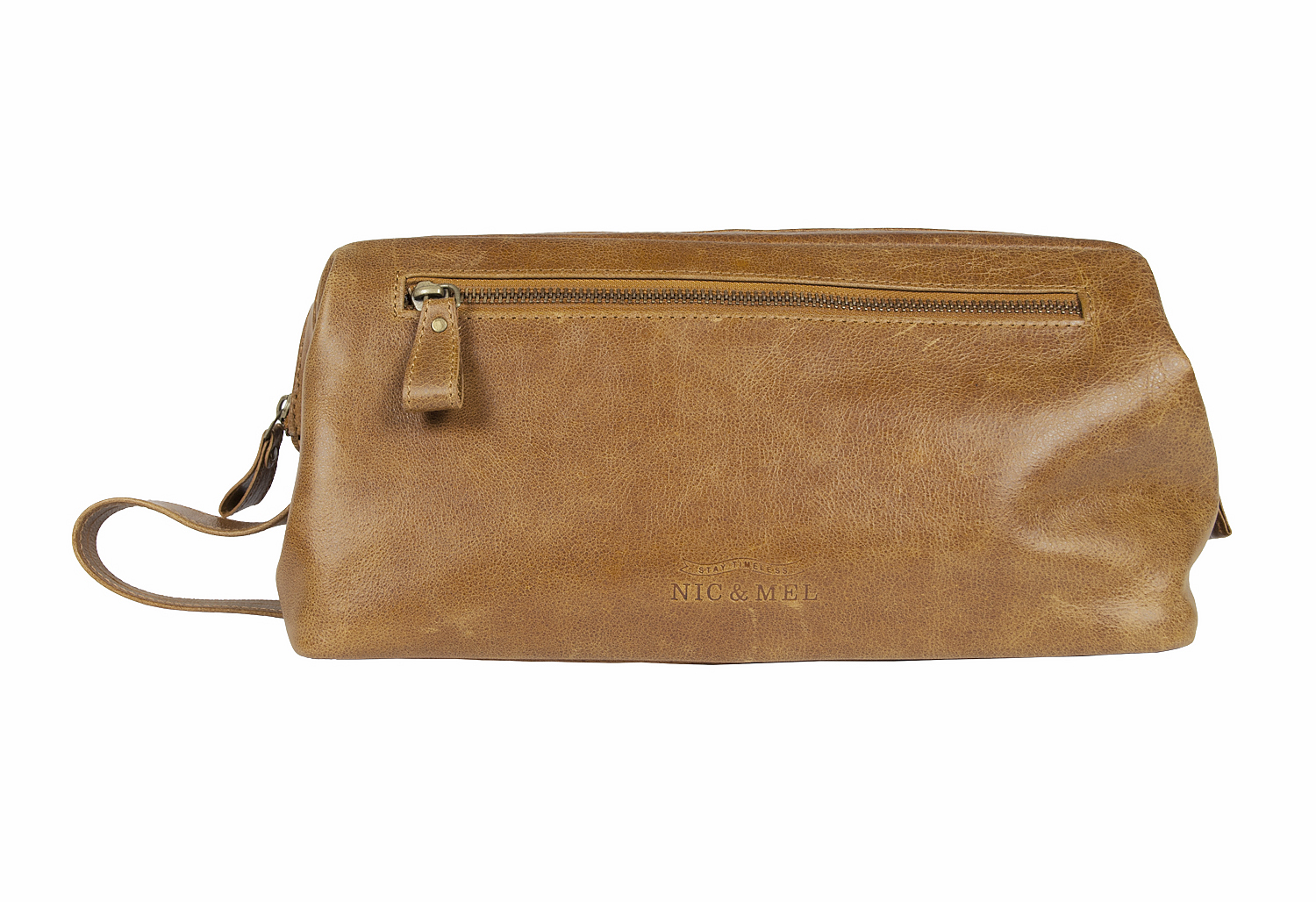 SEAN TOILETRY BAG <br>Cognac Leather
