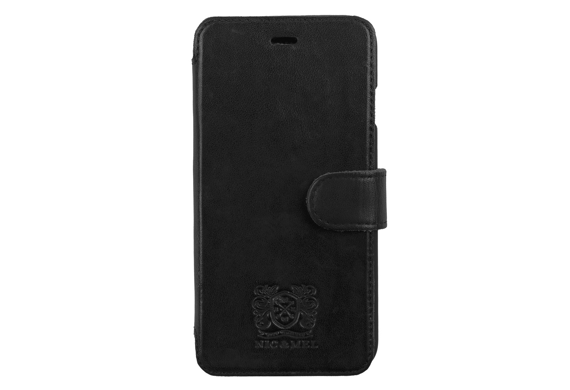 SLIM STAN BOOKCASE <br>Black Leather <br>iPhone 6 PLUS