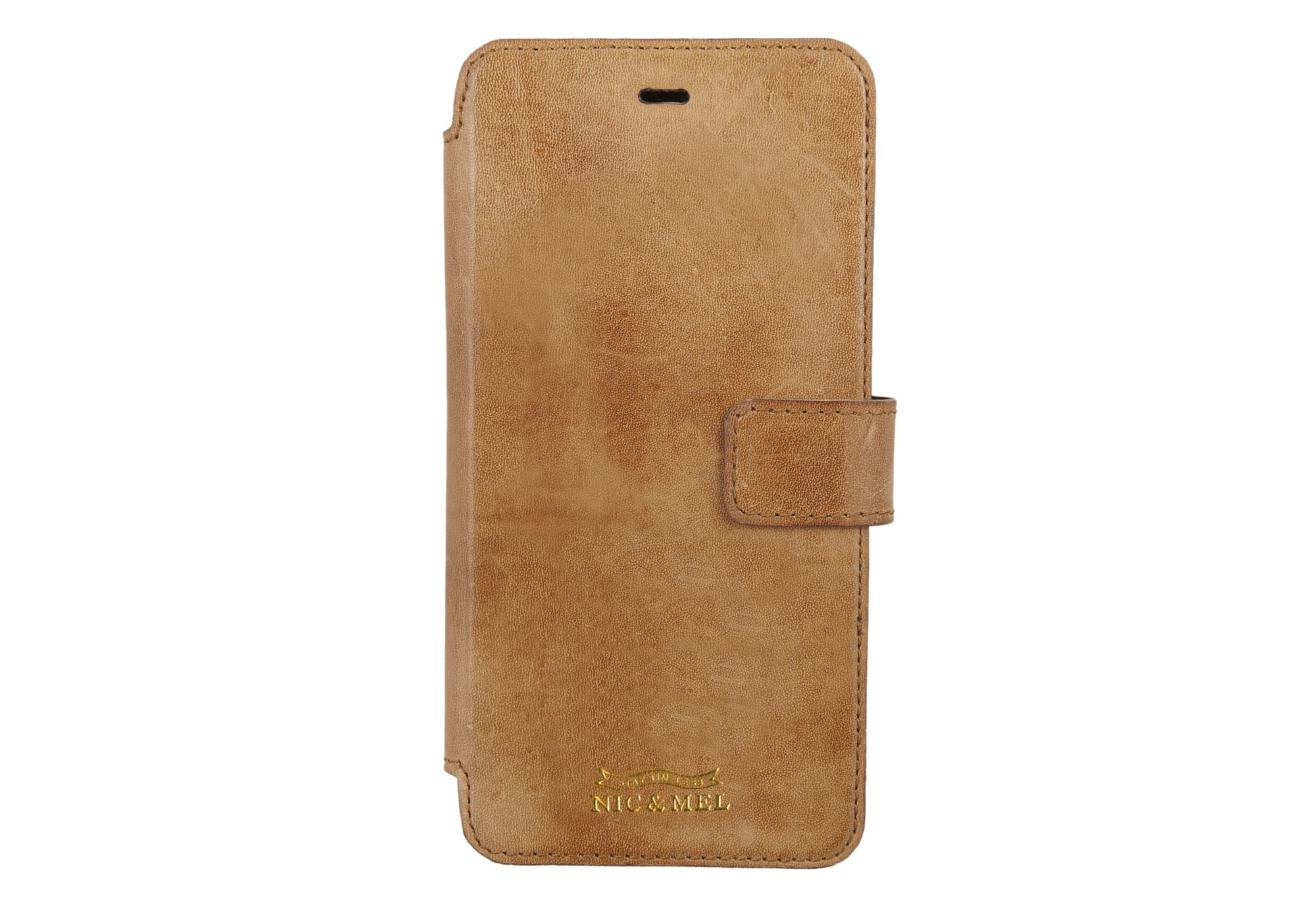 SLIM STAN BOOKCASE <br> Cognac Leather <br>iPhone 6/7/8 PLUS