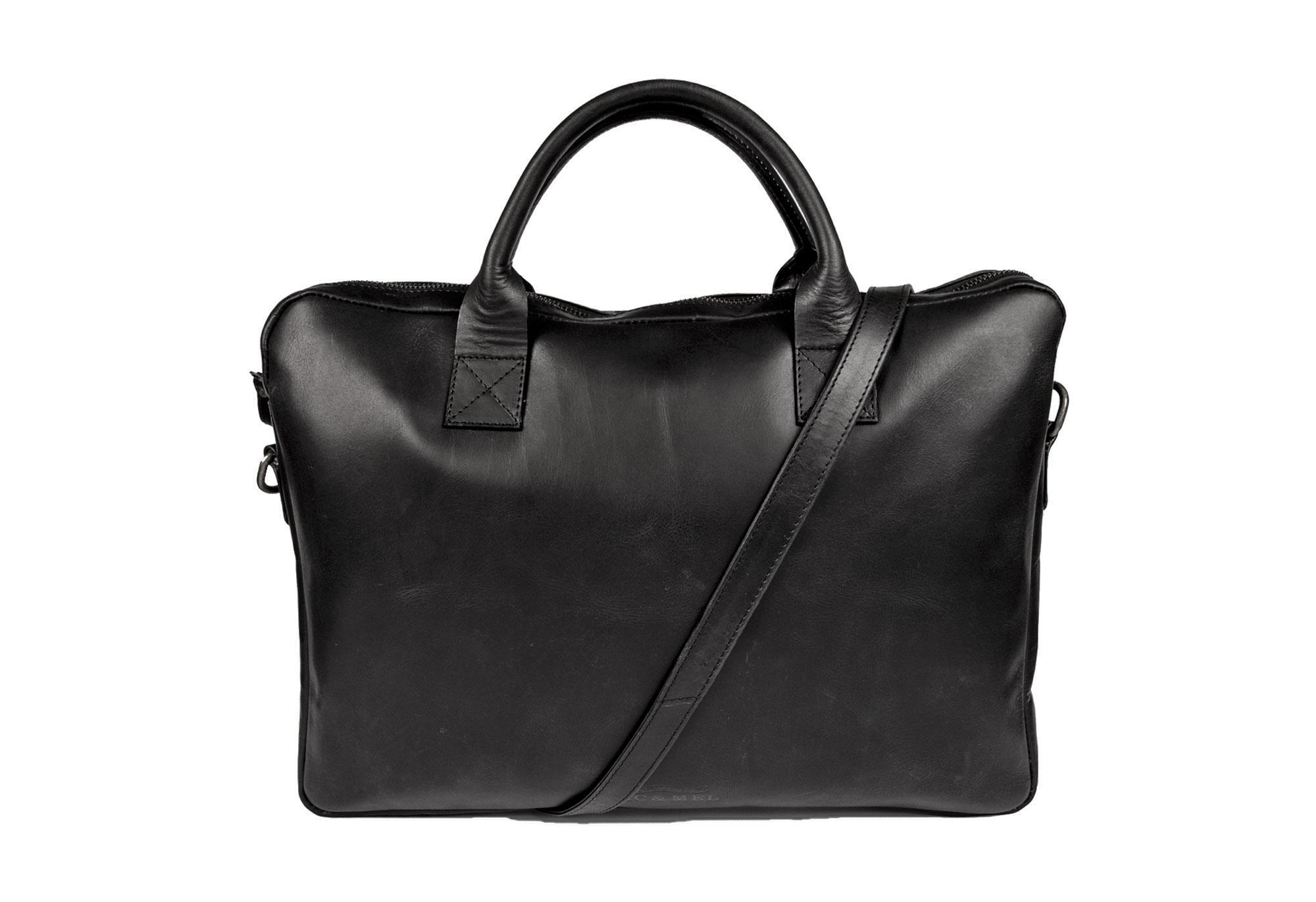 WAYNE COMPUTERBAG 15″ <br>Black Leather