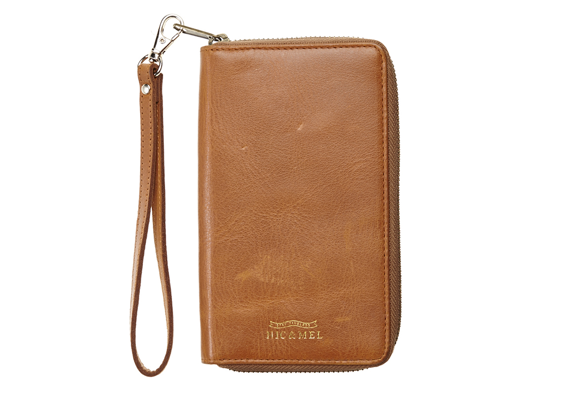 BILLIE PHONE WALLET <br>Cognac Leather <br> For All Phones